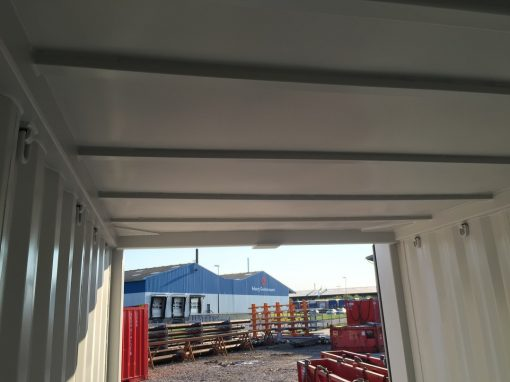 14' offshore container indvendig tag