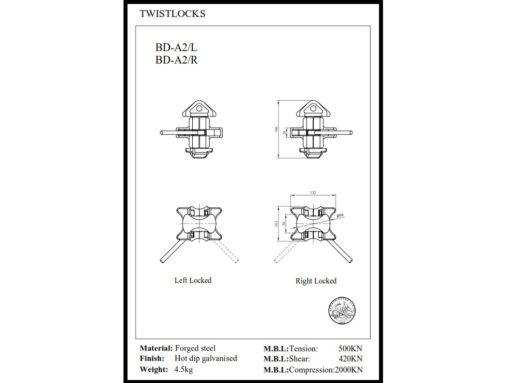 TWI25101 twistlock tegning