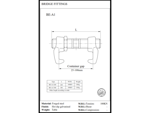 Bridge fitting tegning