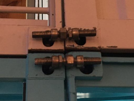 bridge fittings on 2 containers