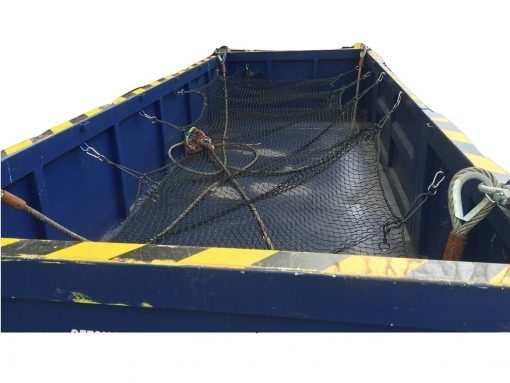Net for 20? open top, s.s. carabiners