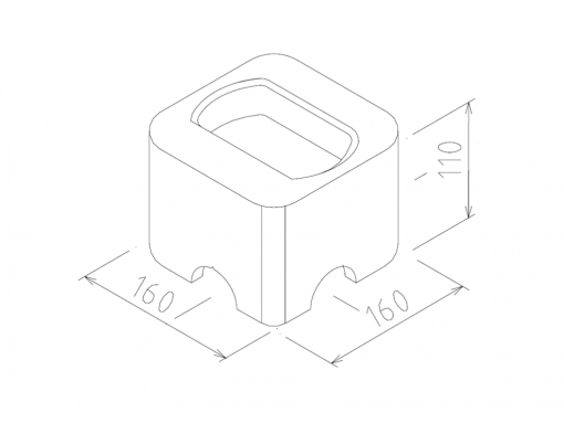 Height adapter / Raised ISO Foundation - Specialcontainer.dk