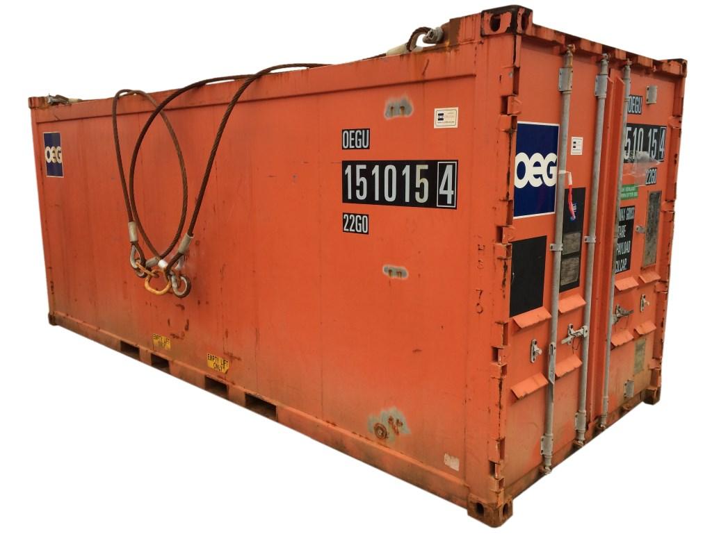 Billig brugt 20 'offshore container i orange - køb den nu før den er solgt!