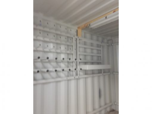10' standard container with lighting and mount - Specialcontainer.dk