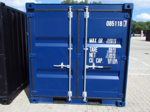 blå 8' container