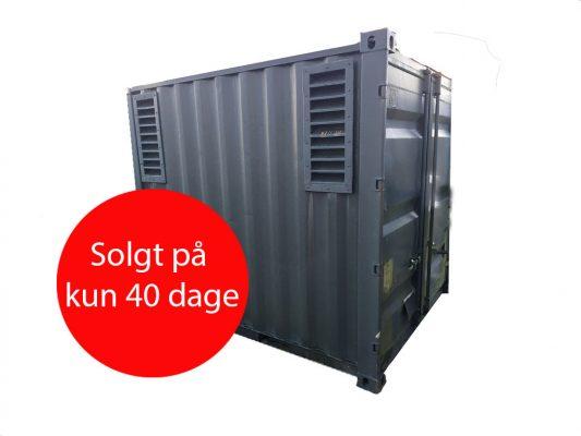 10' generator container solgt