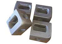 Corner casting, stainless steel, top left