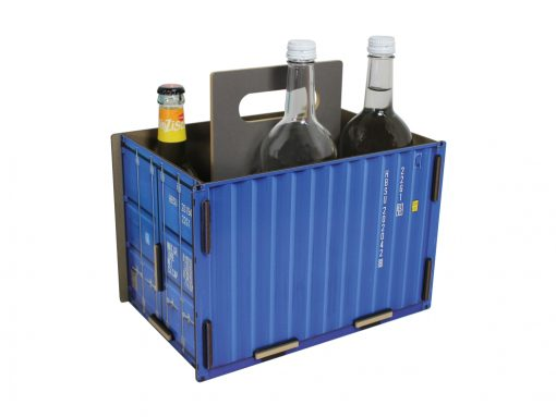 Bottle carrier container