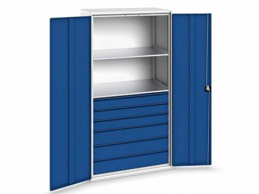 System Cabinet, 6 drawers, 2 shelves, Bott Verso+