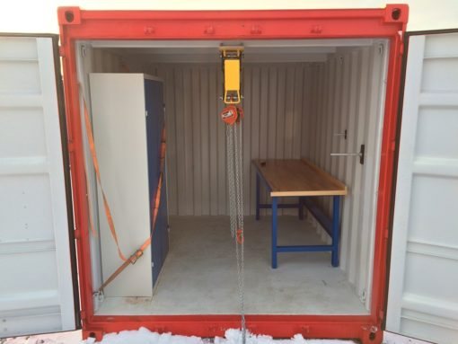 10' offshore containers example interior