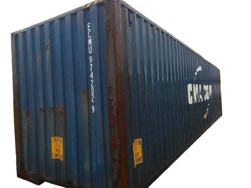 40_HC standard container, used, burned (5)