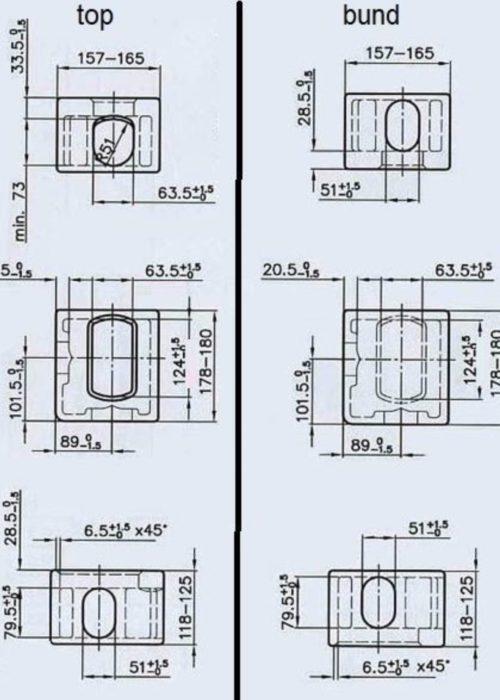 Corner casting measurements - top vs bund 2