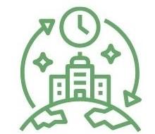 Bæredygtighedkoner uden tekst til jibflex
